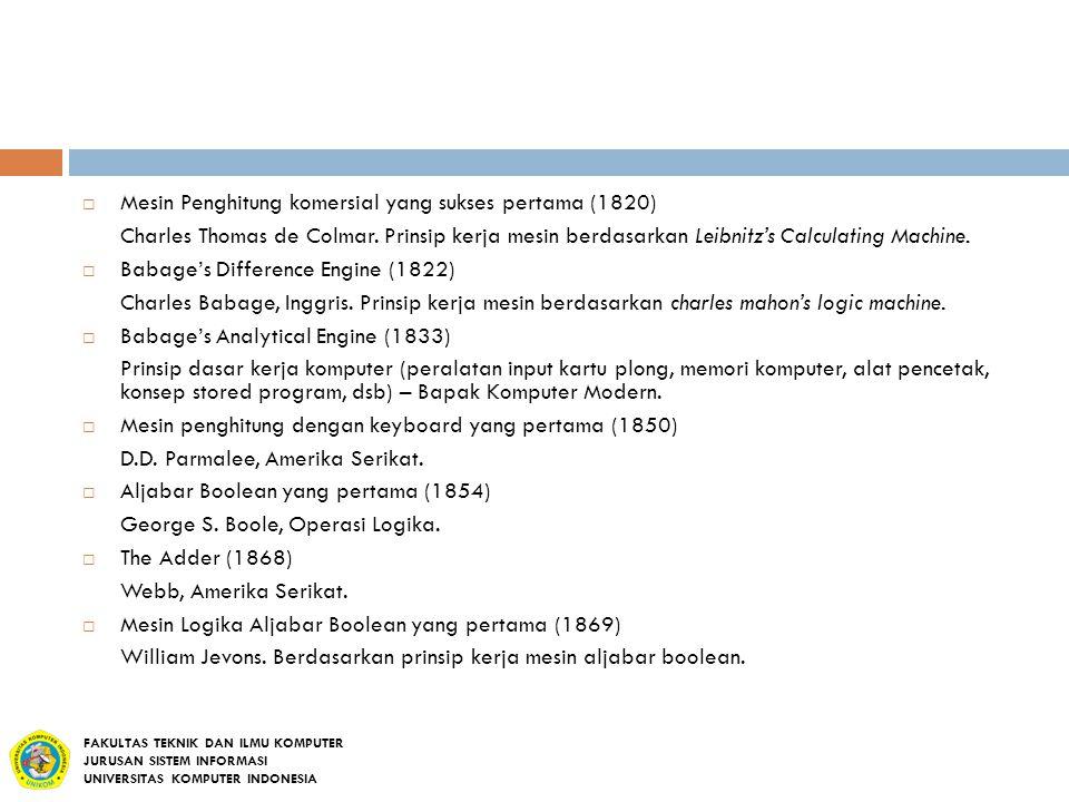 Mesin Penghitung komersial yang sukses pertama (1820)