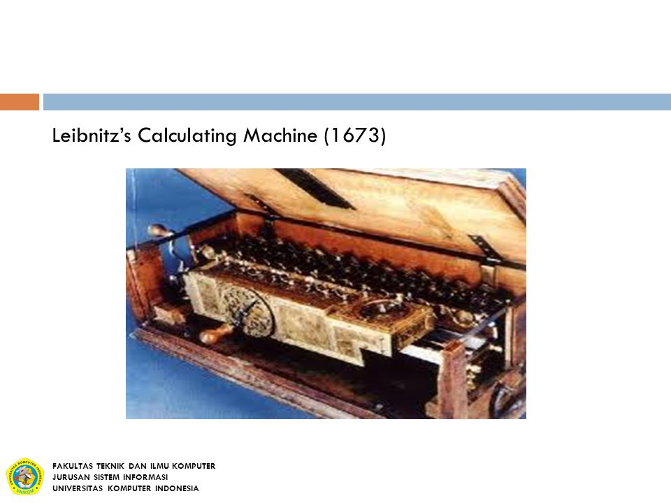 Leibnitz's Calculating Machine (1673)