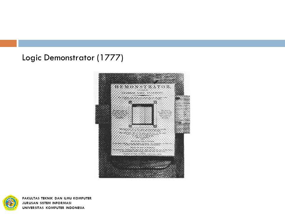 Logic Demonstrator (1777) FAKULTAS TEKNIK DAN ILMU KOMPUTER