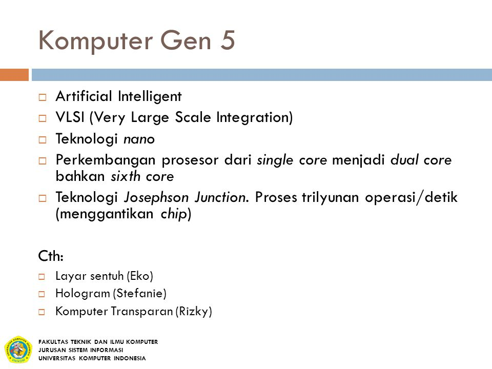 Komputer Gen 5 Artificial Intelligent