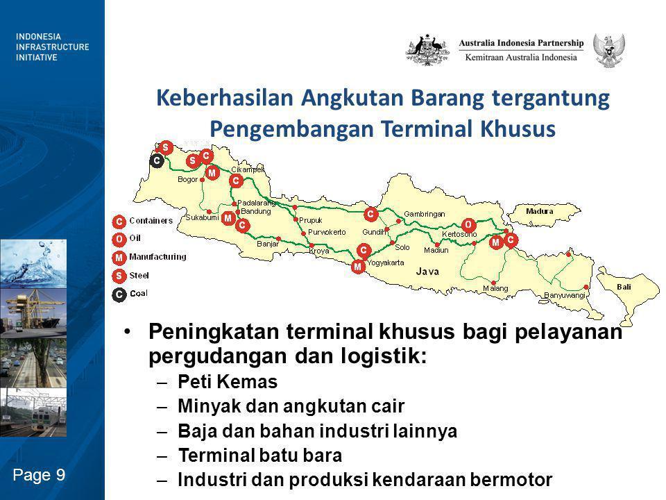 Peningkatan Peran Swasta pada pengembangan Terminal dan Sarana Angkutan Barang