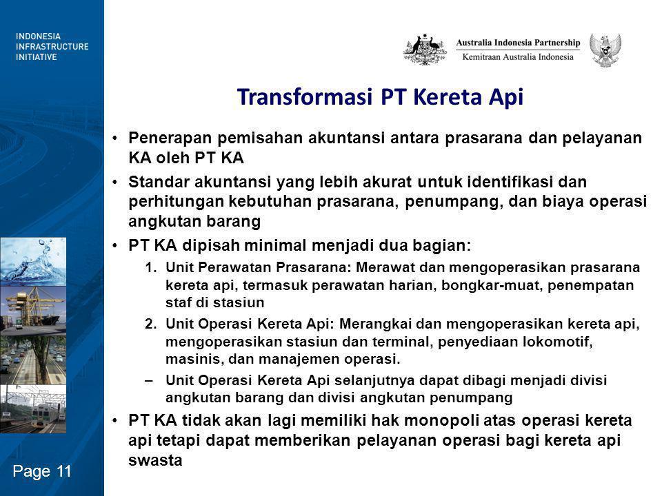 Struktur Sektor Perkeretaapian di Indonesia (Opsi)