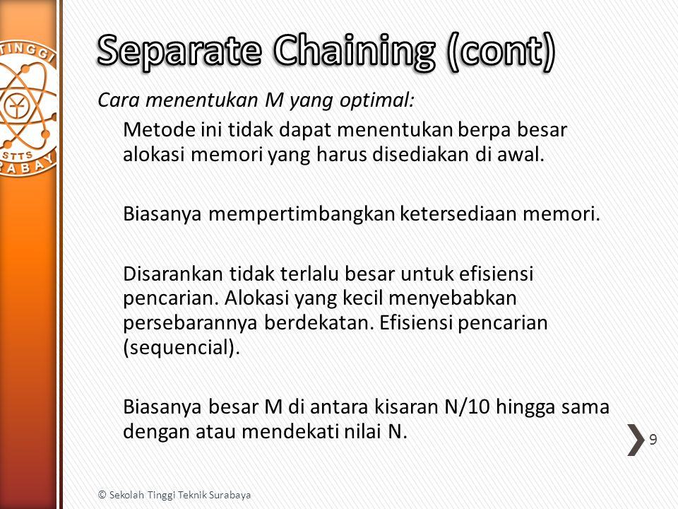 Separate Chaining (cont)