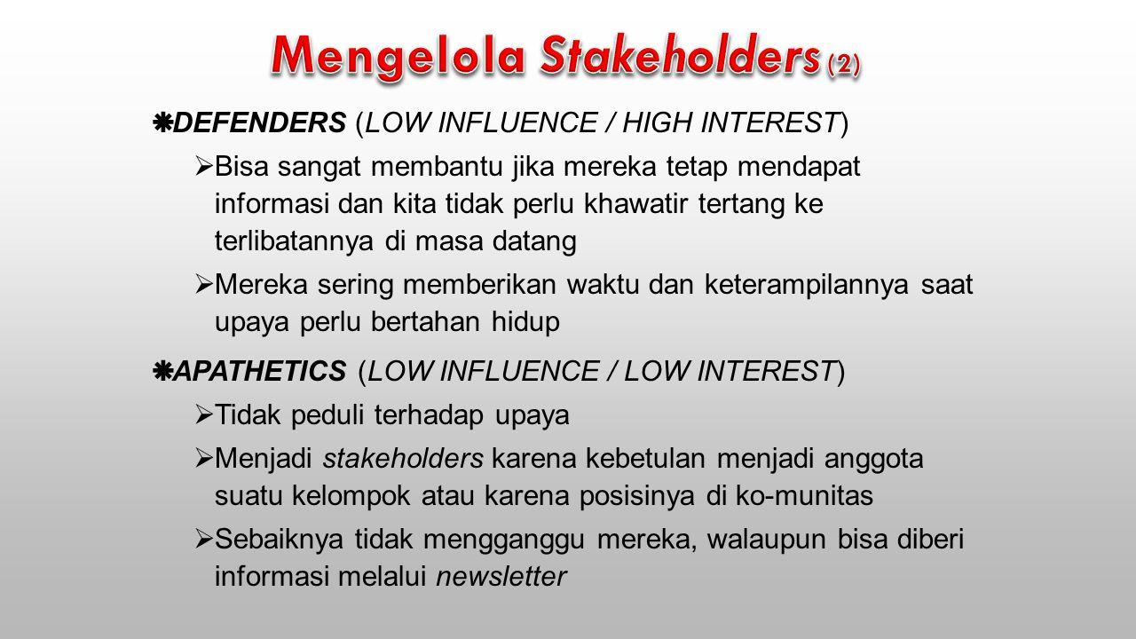 Mengelola Stakeholders (2)