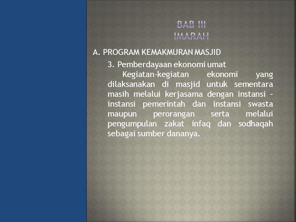 BAB III IMARAH A. PROGRAM KEMAKMURAN MASJID