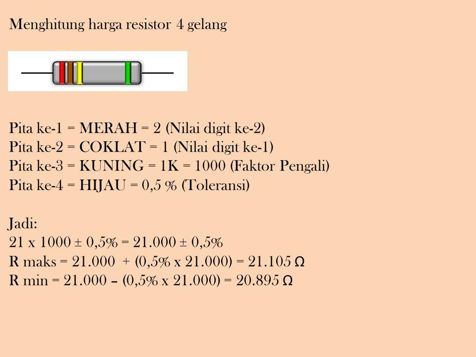 Menghitung harga resistor 4 gelang