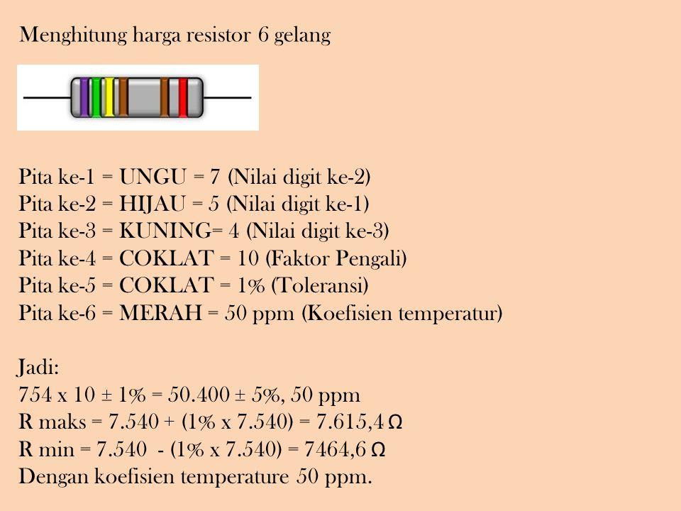 Menghitung harga resistor 6 gelang