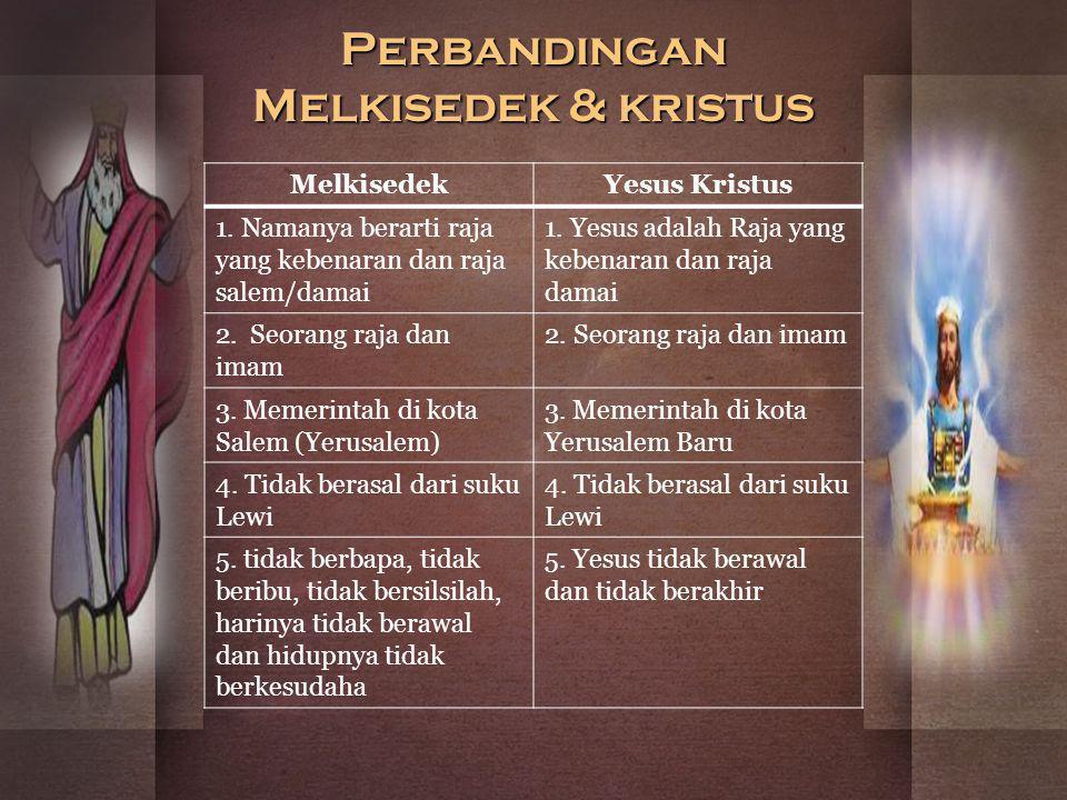 Perbandingan Melkisedek & kristus