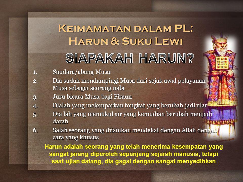 Keimamatan dalam PL: Harun & Suku Lewi