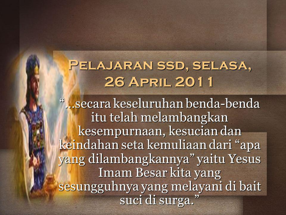 Pelajaran ssd, selasa, 26 April 2011