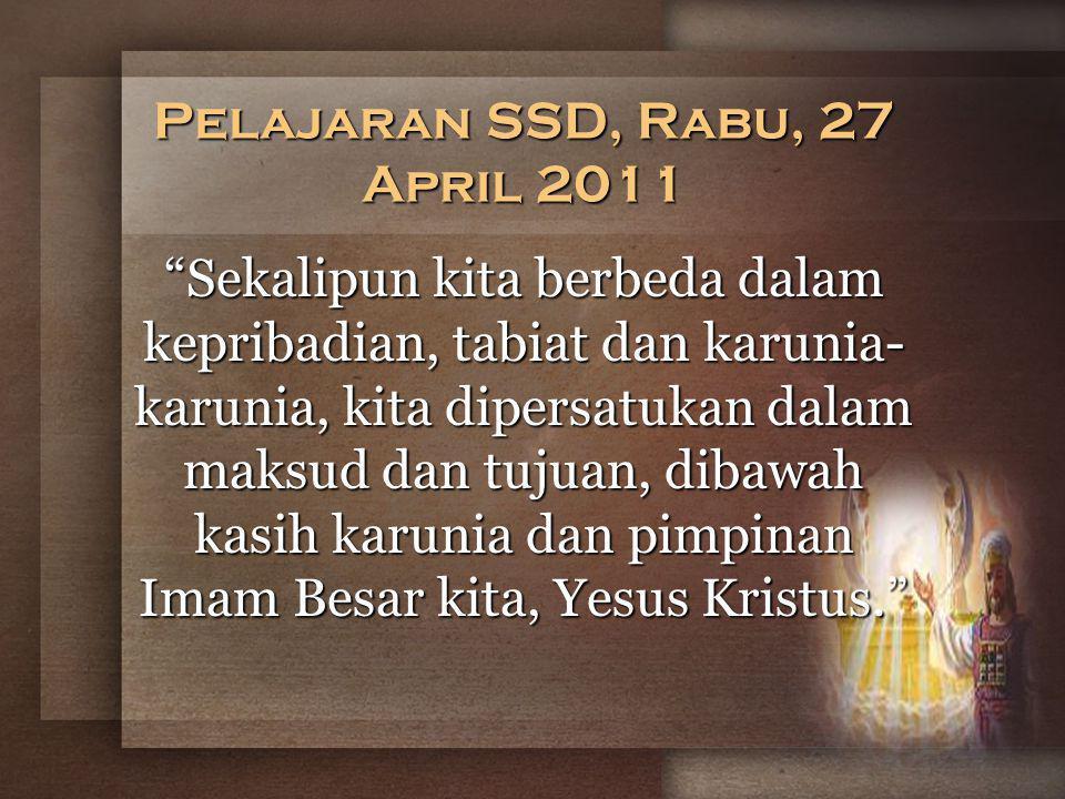 Pelajaran SSD, Rabu, 27 April 2011