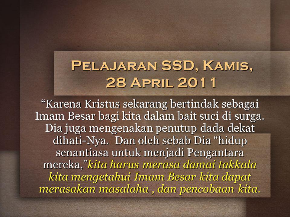 Pelajaran SSD, Kamis, 28 April 2011