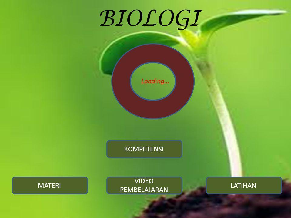 BIOLOGI Loading… KOMPETENSI MATERI VIDEO PEMBELAJARAN LATIHAN