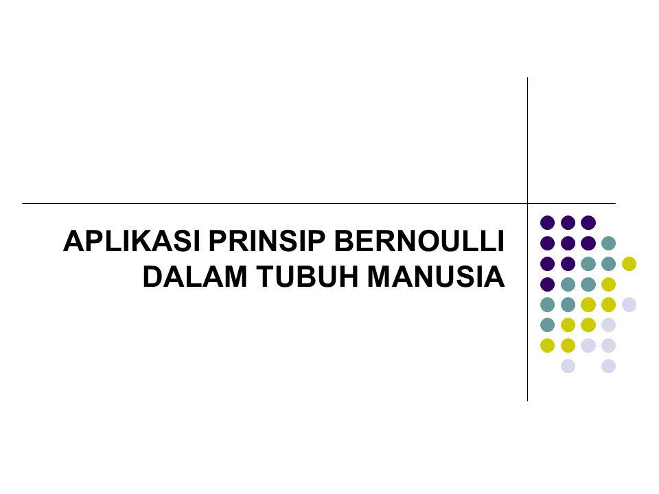 APLIKASI PRINSIP BERNOULLI DALAM TUBUH MANUSIA