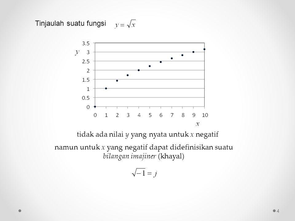 tidak ada nilai y yang nyata untuk x negatif