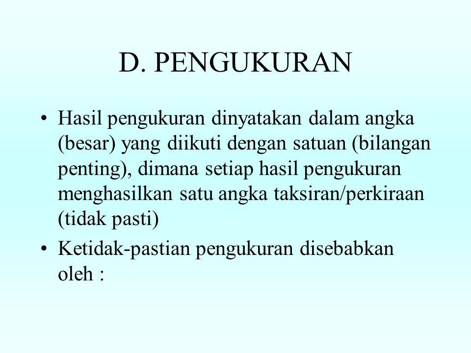 D. PENGUKURAN
