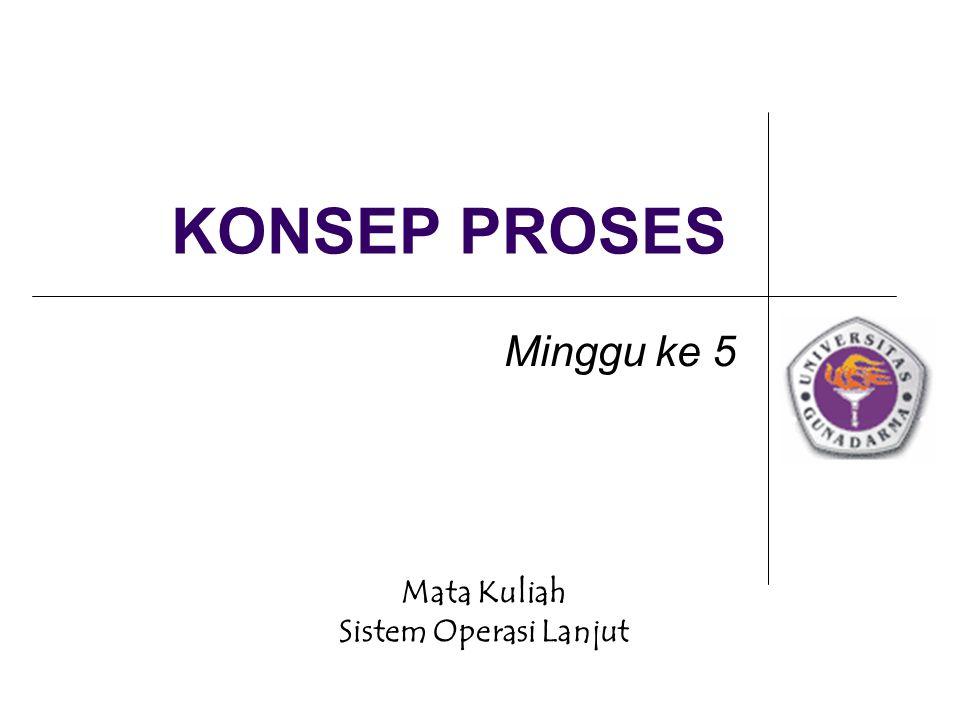 KONSEP PROSES Minggu ke 5