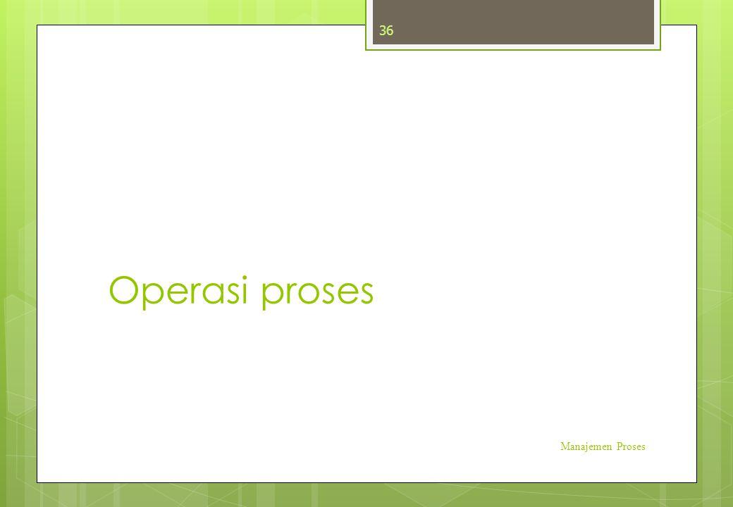 Operasi proses Manajemen Proses