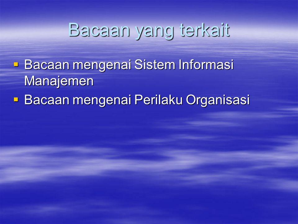 Bacaan yang terkait Bacaan mengenai Sistem Informasi Manajemen