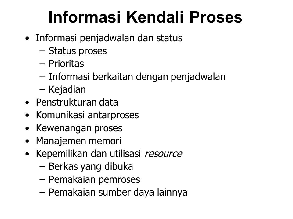 Informasi Kendali Proses