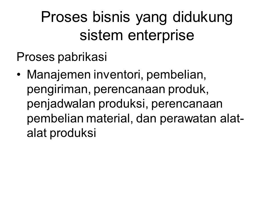 Proses bisnis yang didukung sistem enterprise