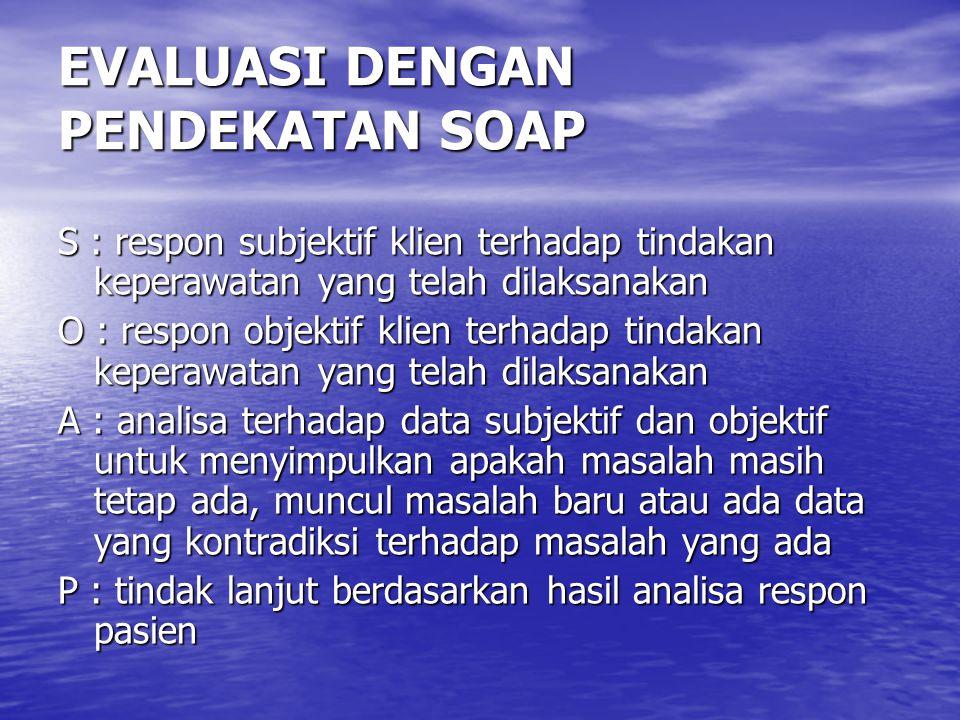 EVALUASI DENGAN PENDEKATAN SOAP
