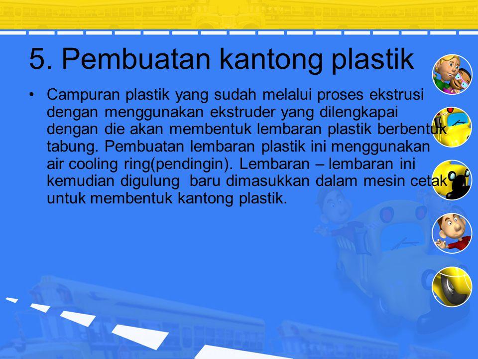 5. Pembuatan kantong plastik