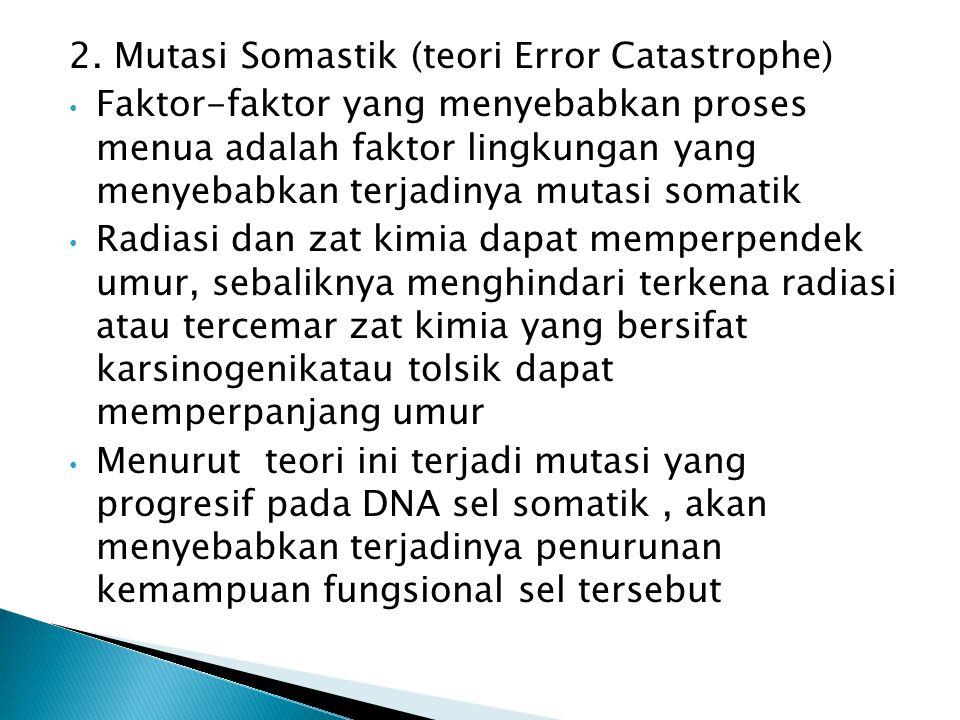 2. Mutasi Somastik (teori Error Catastrophe)