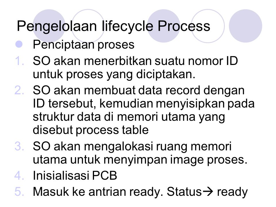 Pengelolaan lifecycle Process