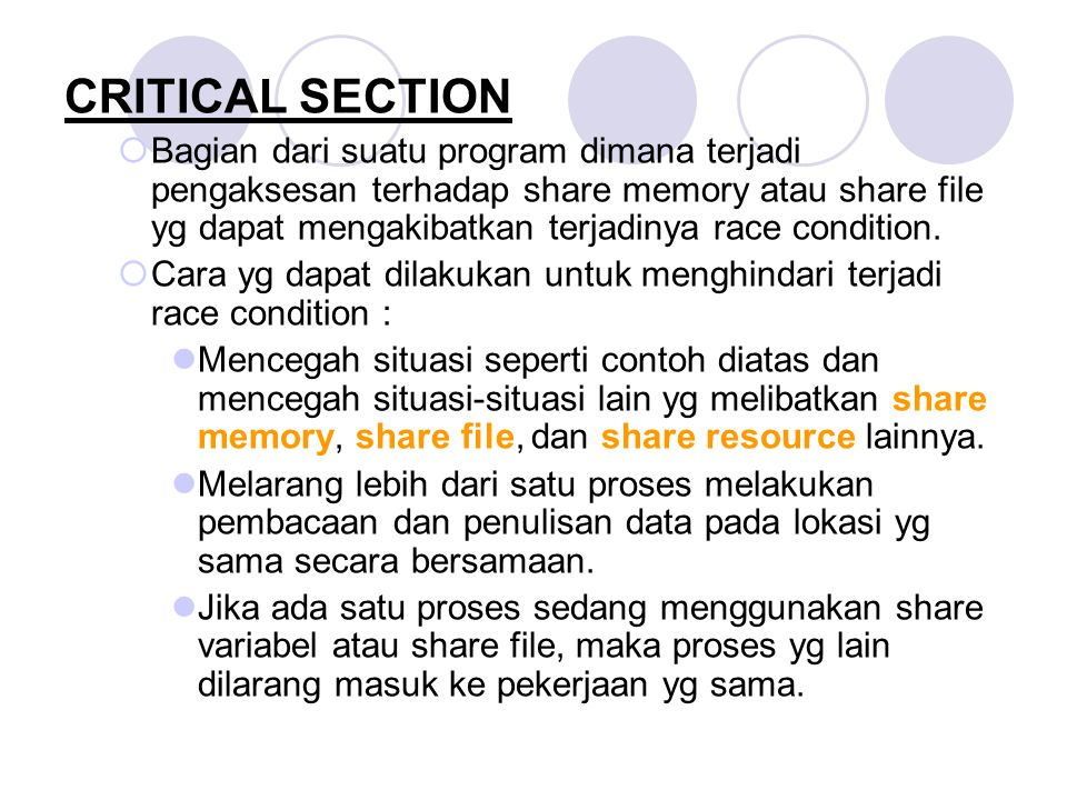 CRITICAL SECTION