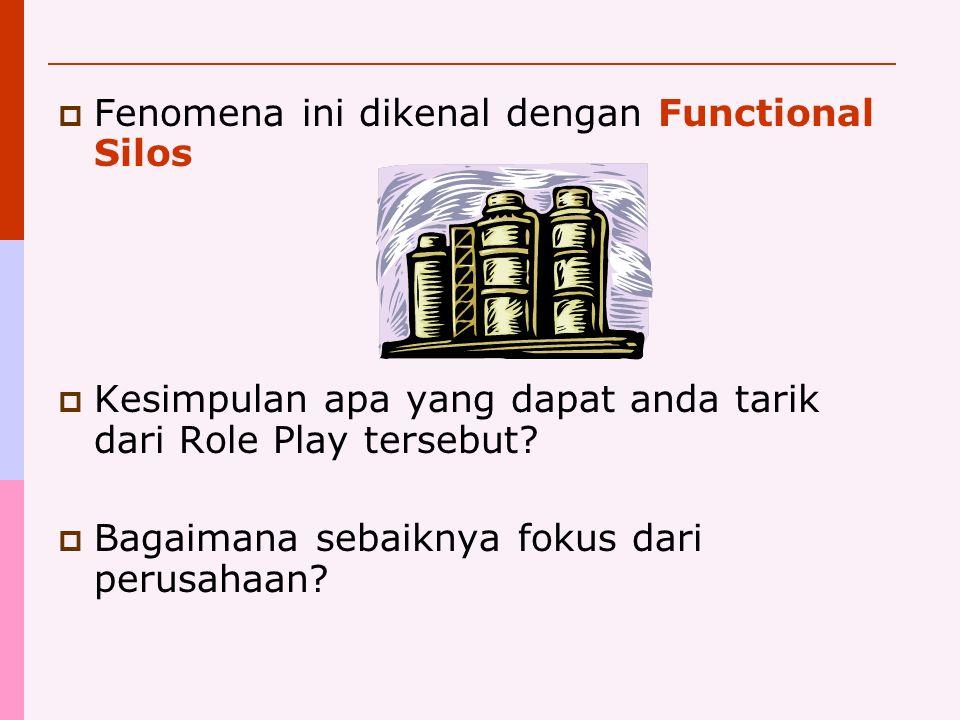 Fenomena ini dikenal dengan Functional Silos