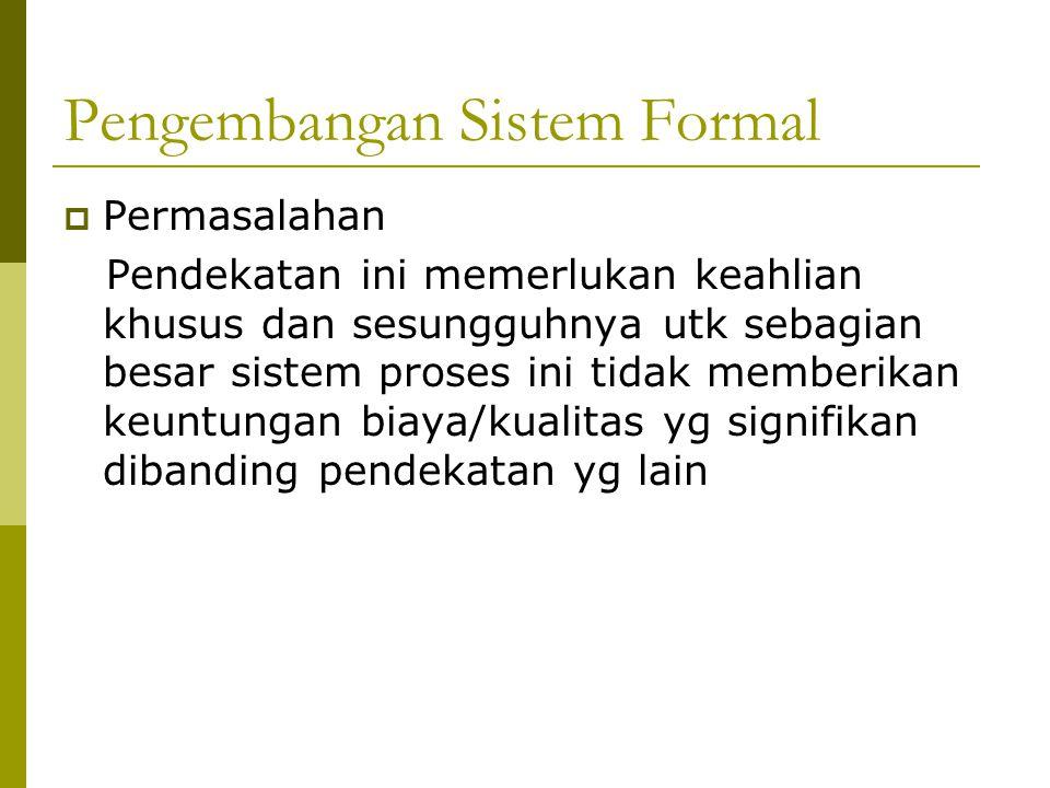 Pengembangan Sistem Formal