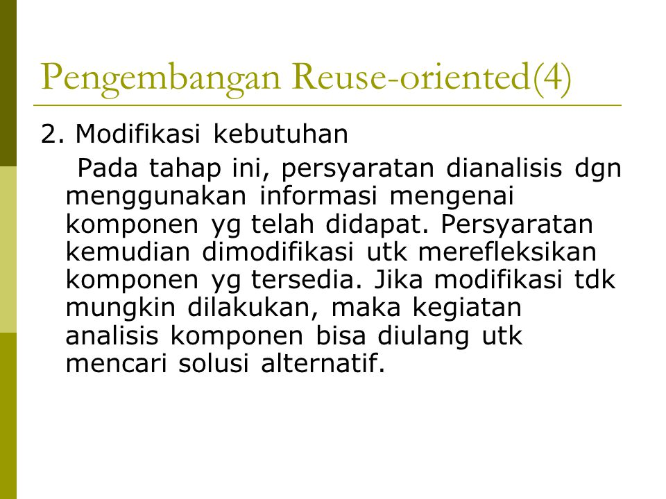 Pengembangan Reuse-oriented(4)