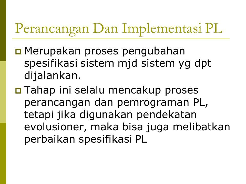 Perancangan Dan Implementasi PL