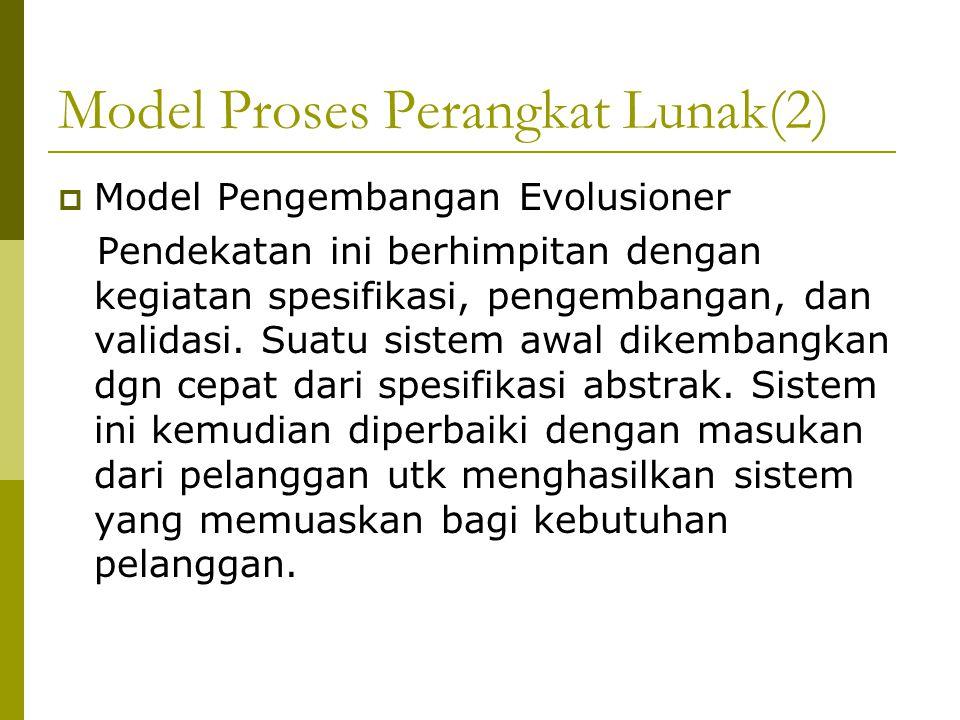 Model Proses Perangkat Lunak(2)
