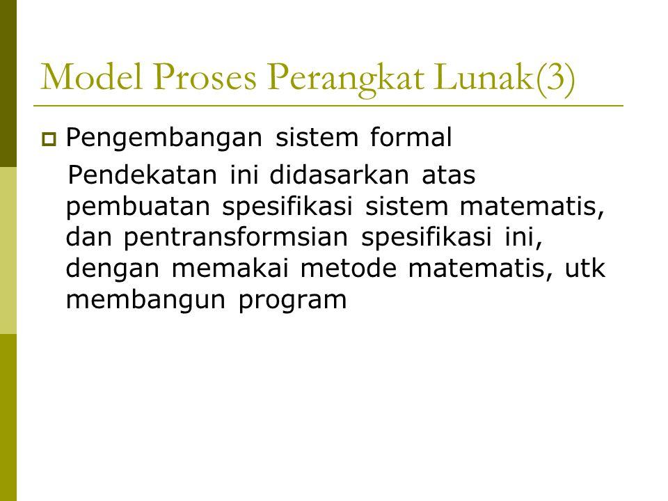 Model Proses Perangkat Lunak(3)