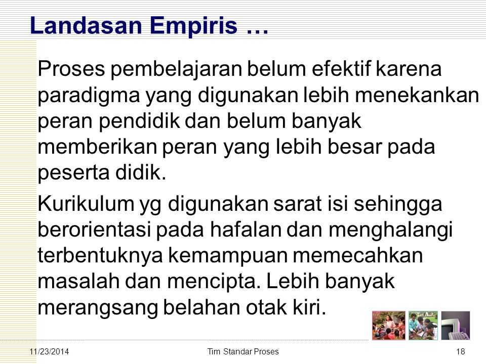 Landasan Empiris …