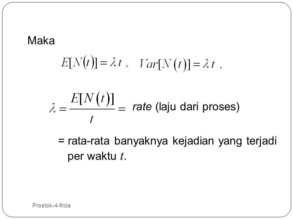 rate (laju dari proses)