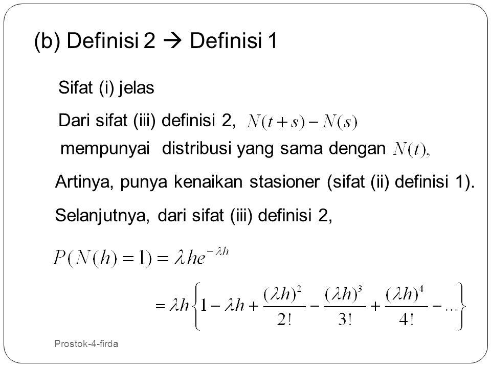 (b) Definisi 2  Definisi 1