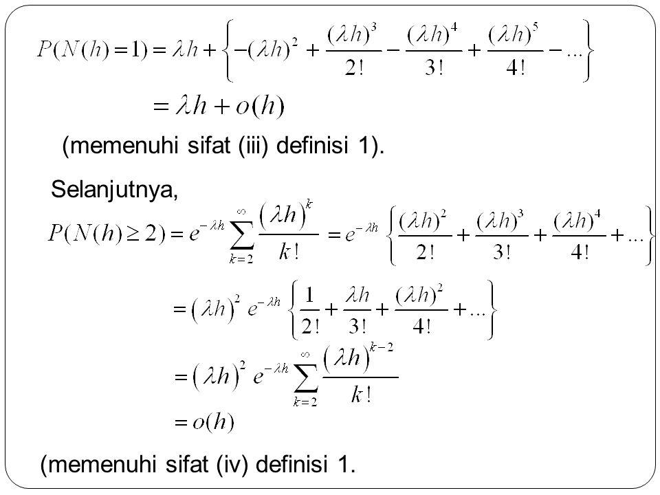 (memenuhi sifat (iii) definisi 1).