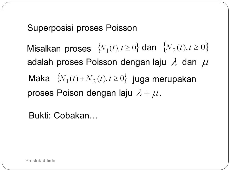 Superposisi proses Poisson