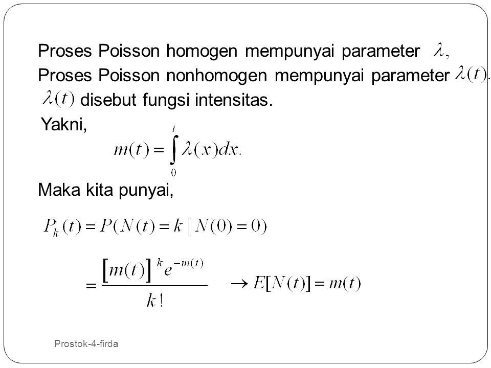Proses Poisson homogen mempunyai parameter