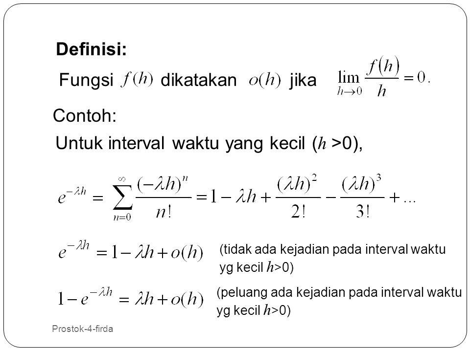 Untuk interval waktu yang kecil (h >0),