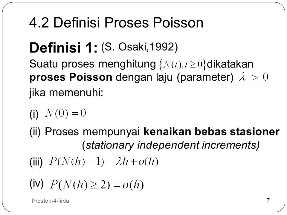 4.2 Definisi Proses Poisson