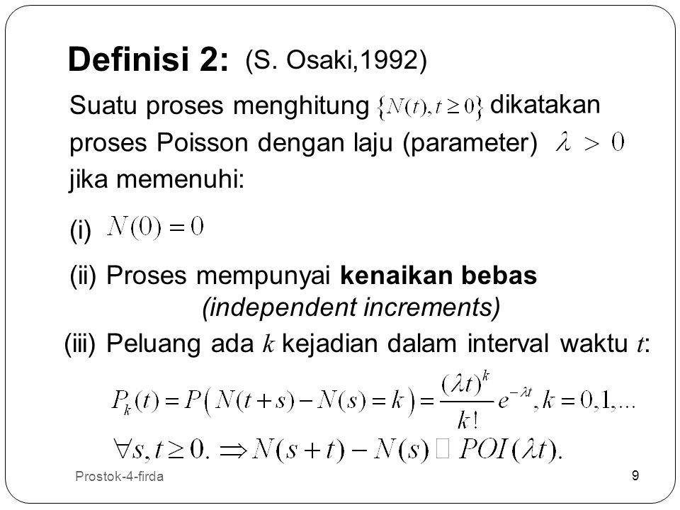 Definisi 2: (S. Osaki,1992) Suatu proses menghitung dikatakan