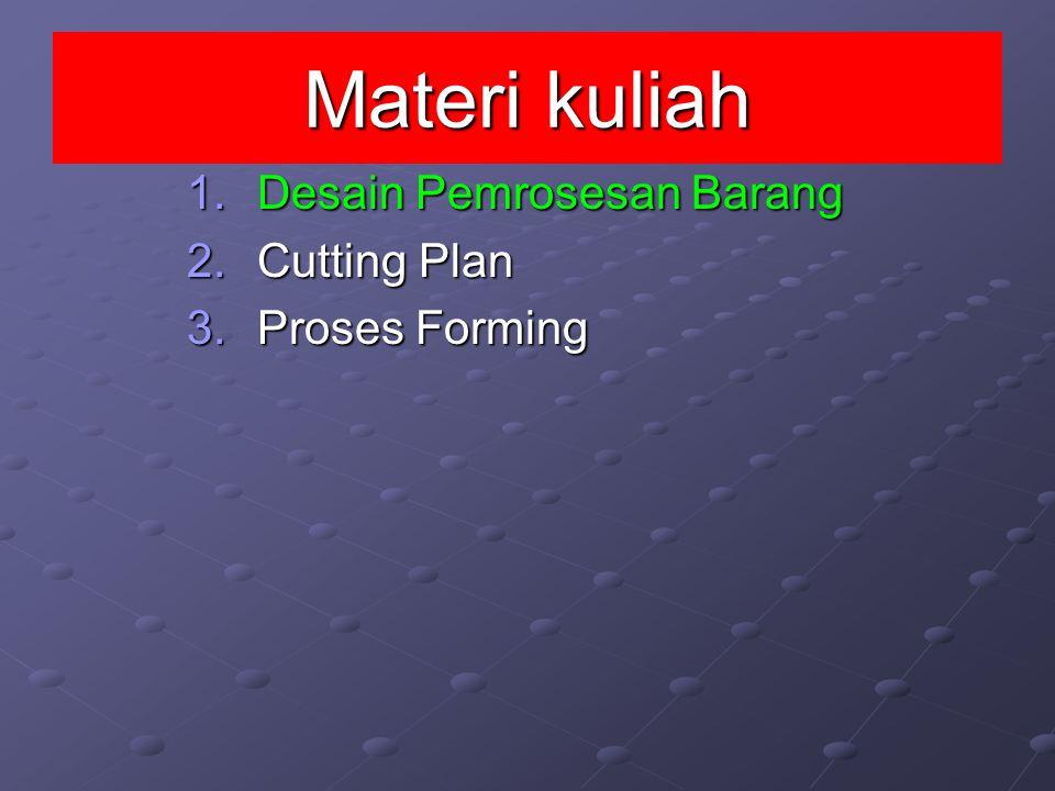 Materi kuliah Desain Pemrosesan Barang Cutting Plan Proses Forming