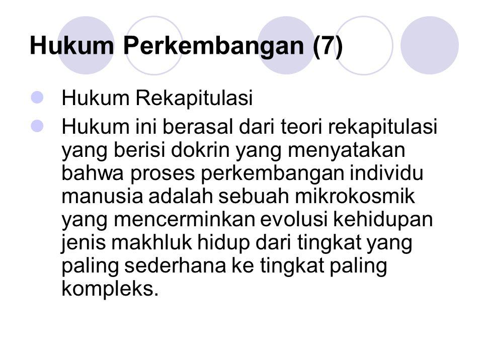 Hukum Perkembangan (7) Hukum Rekapitulasi