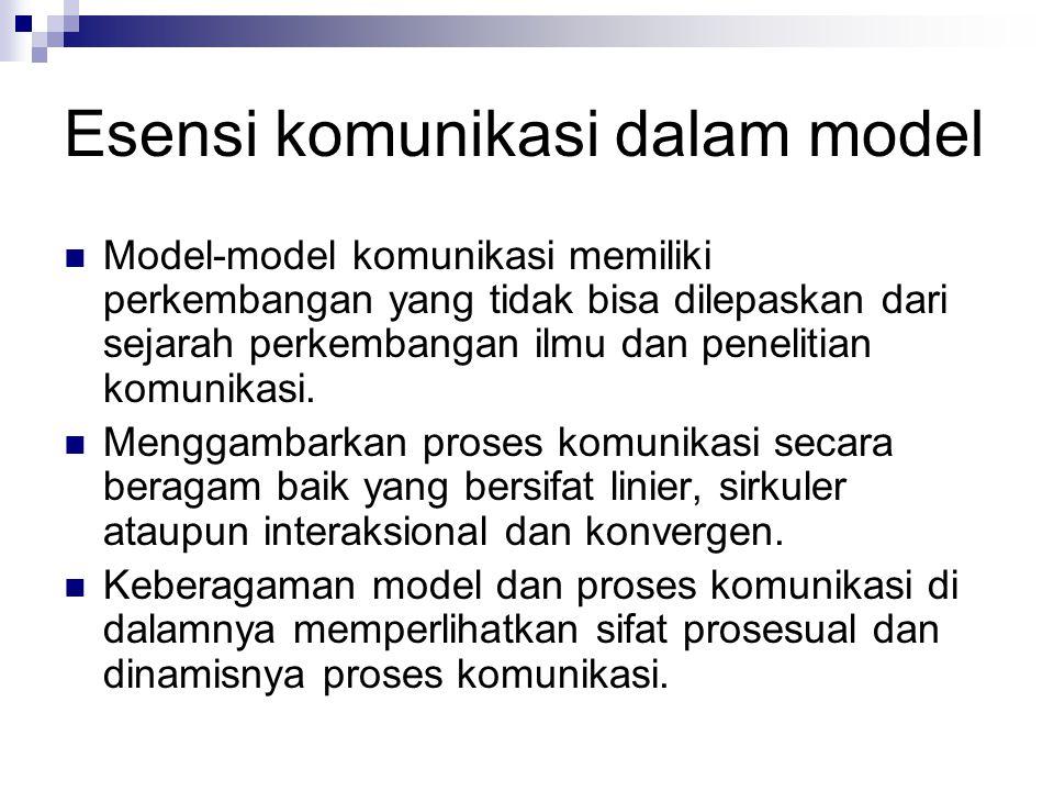 Esensi komunikasi dalam model