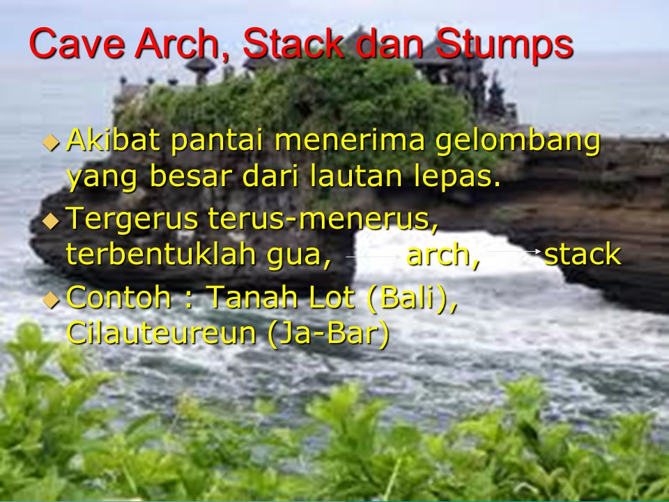 Cave Arch, Stack dan Stumps