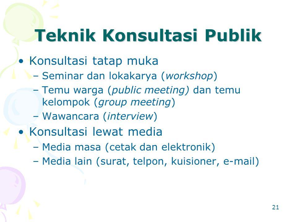 Teknik Konsultasi Publik